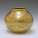 Handcrafted Coil Formed Brass Vase by Metalsmith Steve Shelby