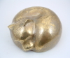 Handcrafted Brass Cat Sculpture by Metalsmith Steve Shelby