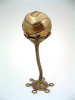 "Handcrafted ""Magic Orb"" Brass Sculpture by Metalsmith Steve Shelby"